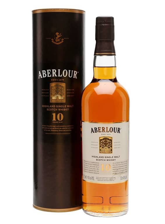 Aberlour 10 year old (in tubes) - 70cl 40%