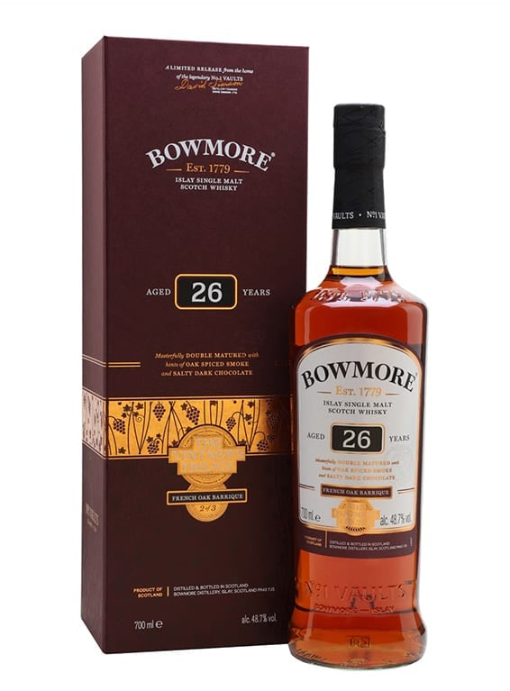 Bowmore Vintners Trilogy 26 Year Old Wine Barrique 70cl 48.7%
