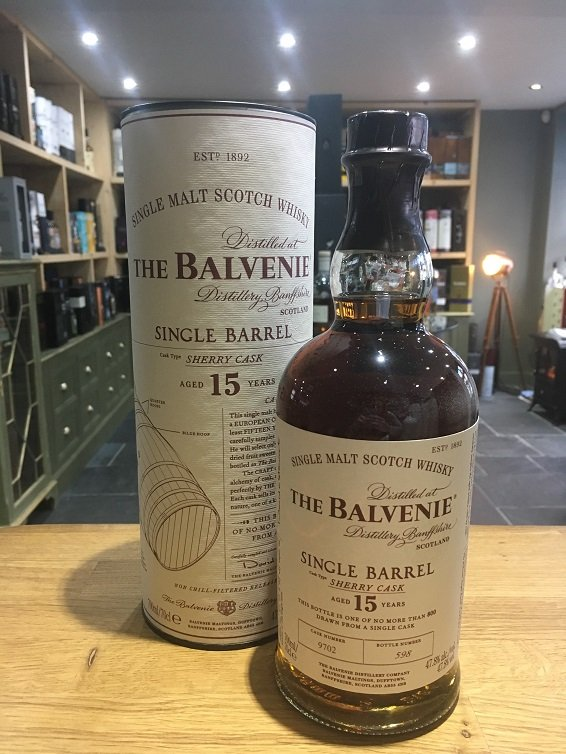 The Balvenie Single Barrel 15 Year Old, sherry cask 70cl 47.8%