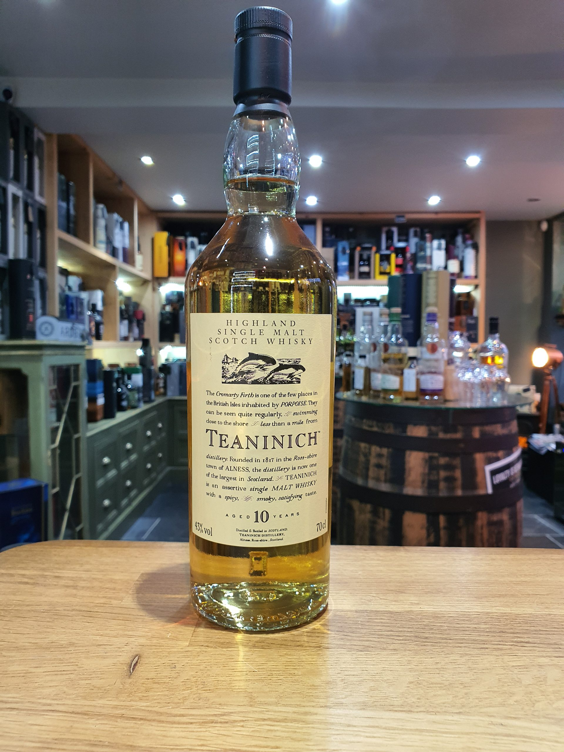 Teaninich 10 Year Old Flora and Fauna 70cl 43%