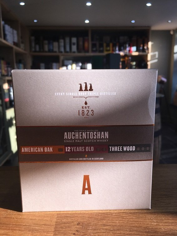 Auchentoshan Single Malt Whisky Collection 3 x 5cl (American oak, 12 year old & Three wood)