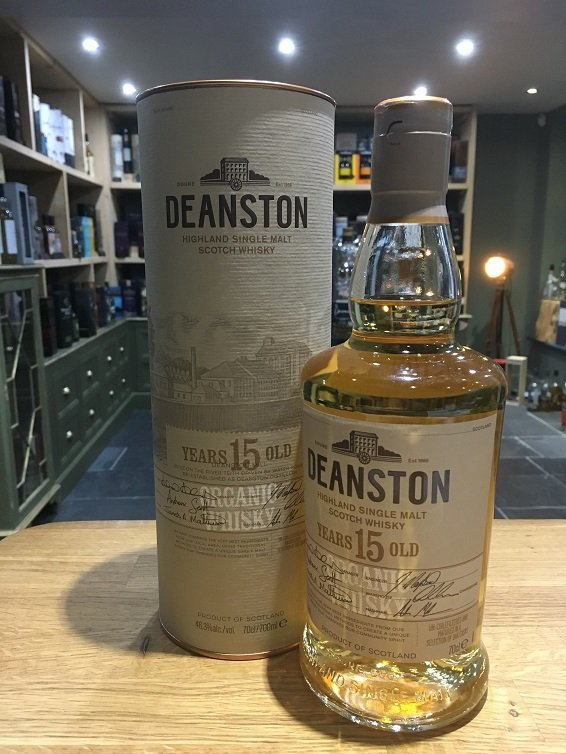 Deanston 15 Year Old Organic Single Malt Whisky 70cl 46.3%