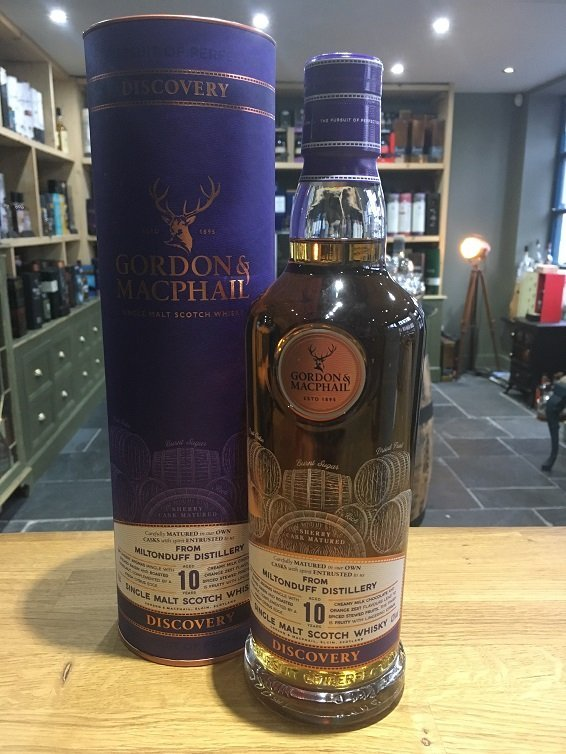 Miltonduff 10 year old Gordon & MacPhail discovery 70cl 43%