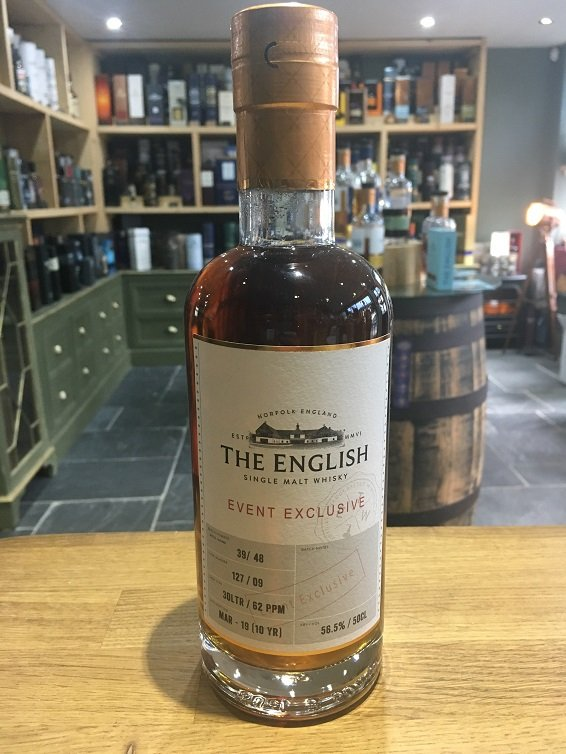 The English Event Exclusive 10 Year Old Cask No 127/09 Peated 56.5%