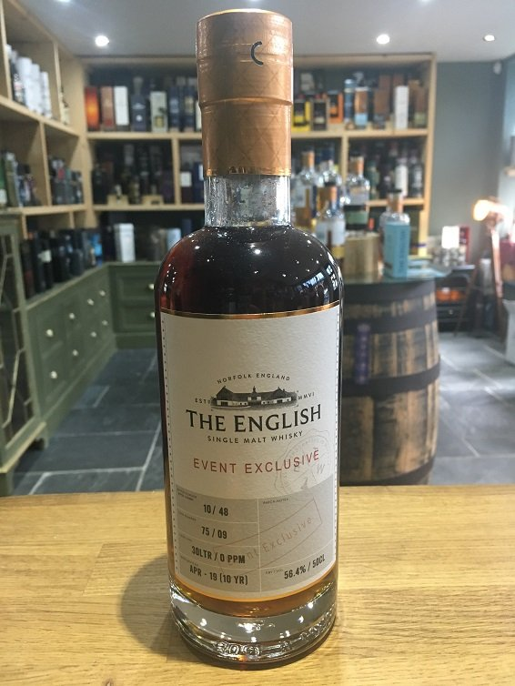 The English Event Exclusive 10 Year Old Cask No 075/09 Unpeated 50cl 56.4%