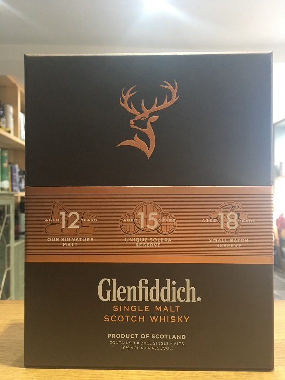 Glenfiddich Gift Set 3 x 20 cl
