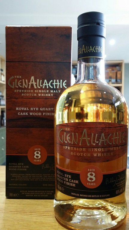GlenAllachie 8 Year Old Koval Rye Quarter Cask wood finish 70cl 48%