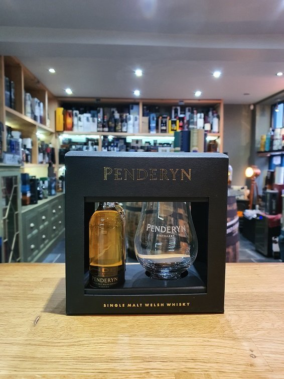 Pendeyn Tasting Glass with two Miniatures 2 x 5cl 46%