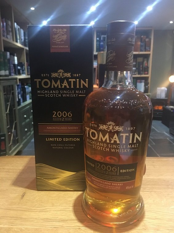 Tomatin 2006 12 Year Old Amontillado Sherry Finish Limited Edition 70cl 46%