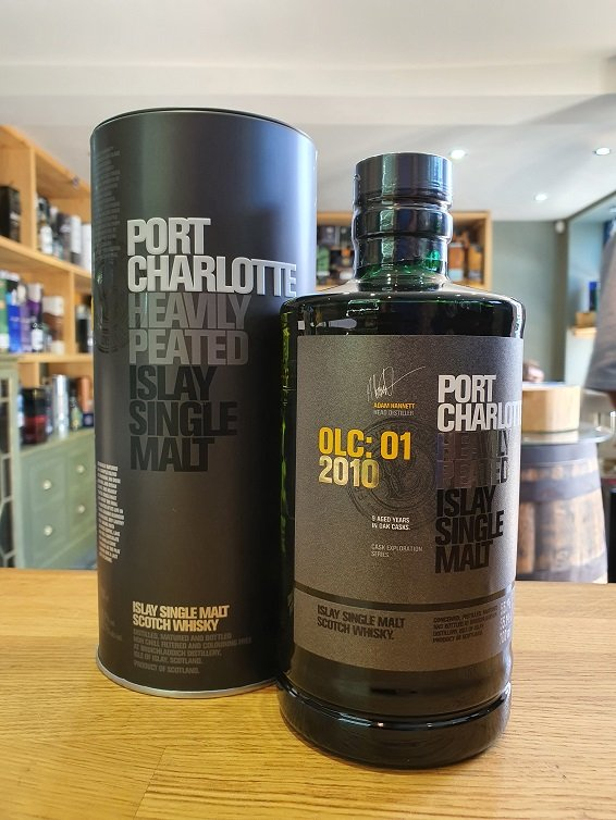 Port Charlotte OLC:01 2010 heavily Peated 70cl 55.1%