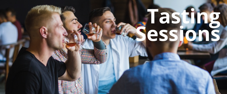Whisky, Gin, Rum tasting sessions