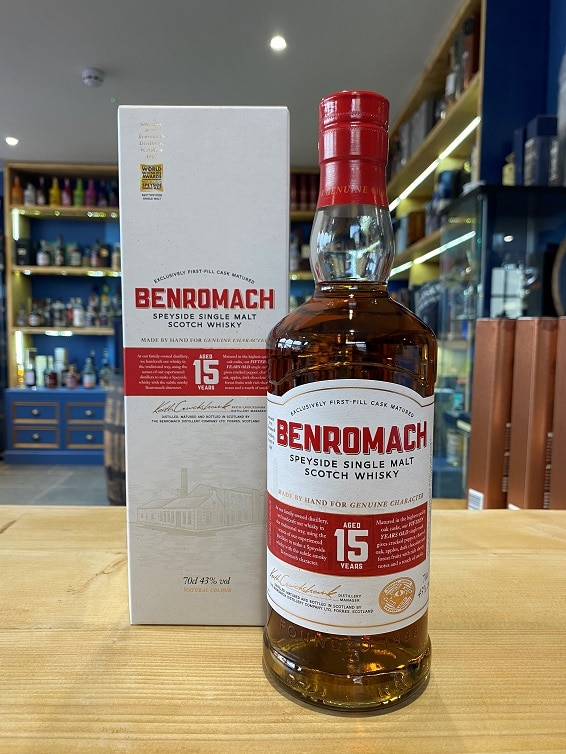 Benromach Aged 15 Years (New style) 43% 70cl