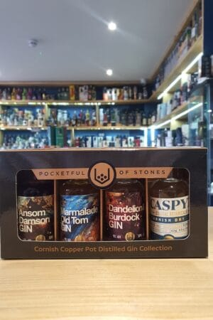 Pocketful of Stones Cornish Copper Pot Distilled Gin Collection 4 x 5cl