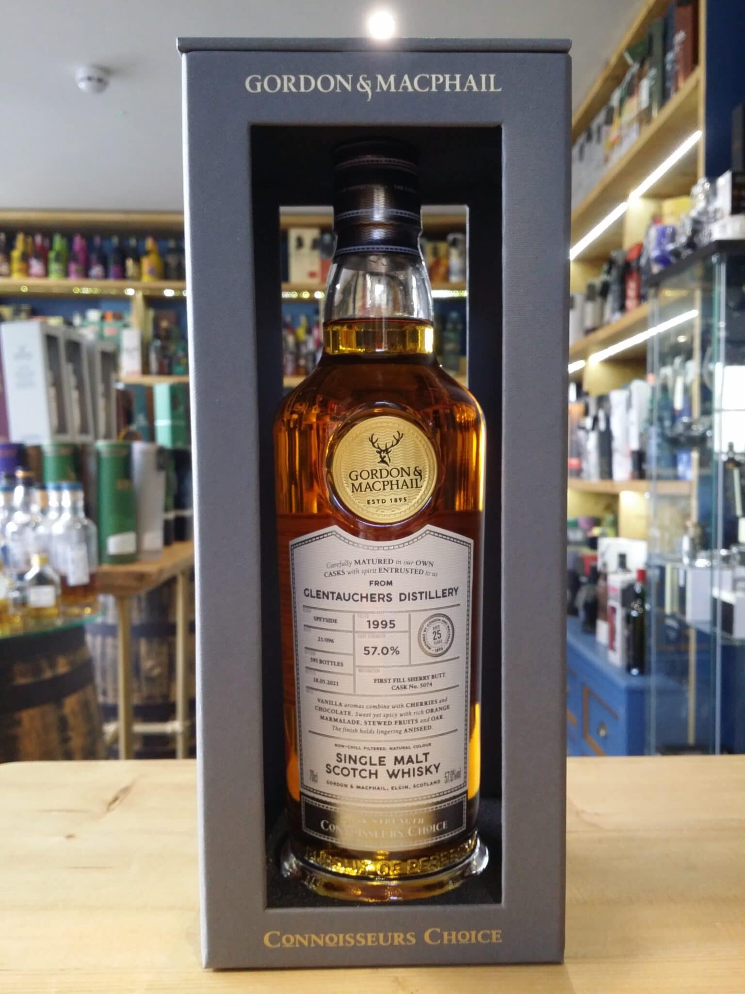Gordon and MacPhail Connoisseurs Choice Glentauchers 1995 Aged 25 Years 57% 70cl