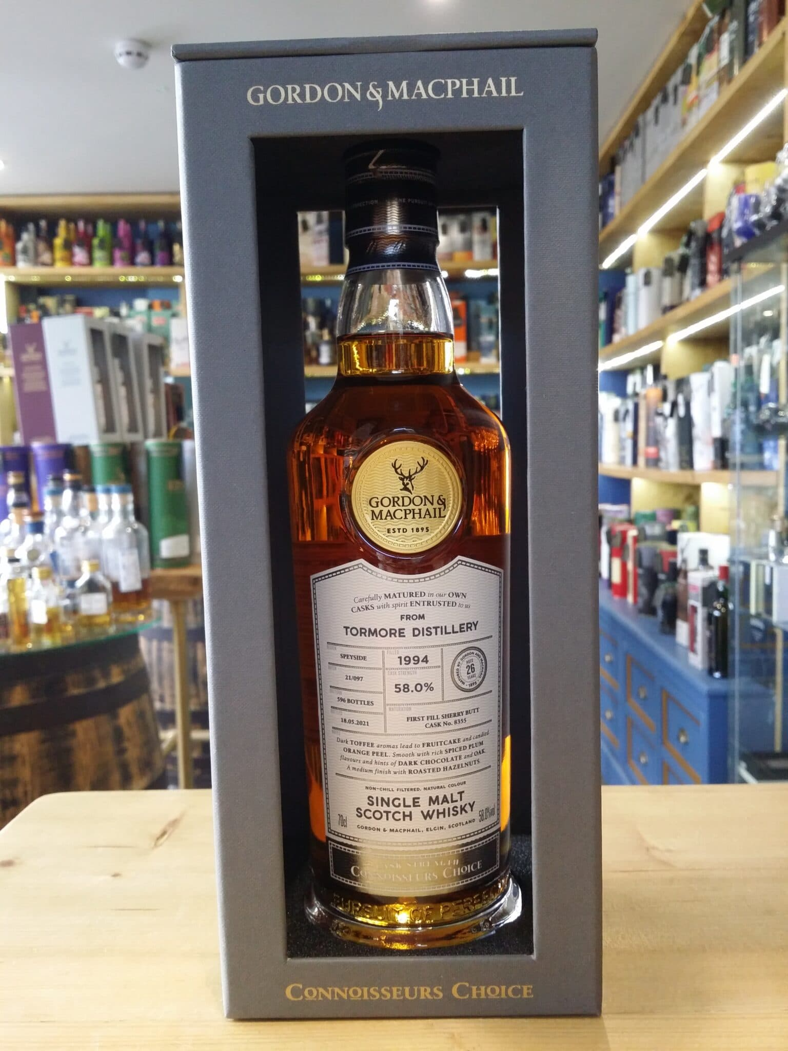 Gordon and MacPhail Connoisseurs Choice Tormore 1994 Aged 26 Years 58% 70cl